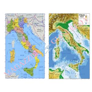 Cartina Geografica Dell Italia Fisica E Politica.Cartina Geografica Fisica Politica Italia Cm 100x140