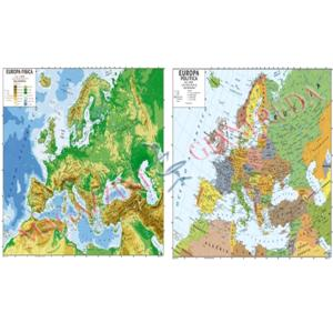 Europa Fisica Cartina Da Stampare.Cartina Geografica Fisica Politica Europa Cm 100x140