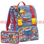 ZAINO+ASTUCCIO SCHOOLPACK DC SUPER HERO GIRLS POWER